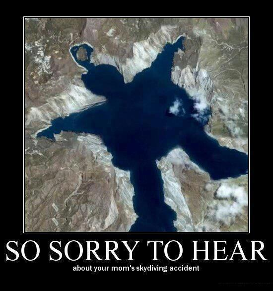 So sorry to hear about your mom's skydiving accident