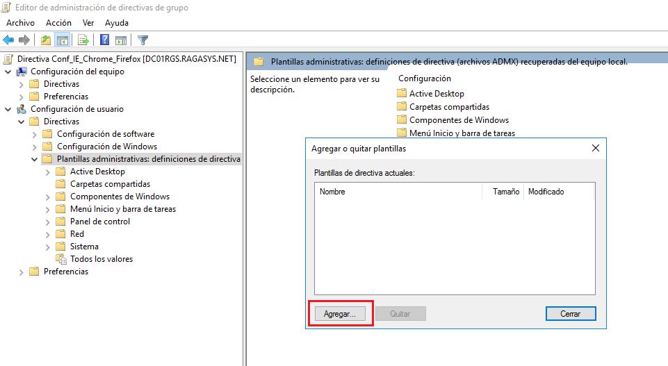 GPO para configurar página de inicio en Internet Explorer, Google
