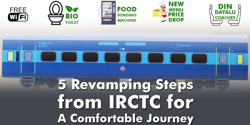 IRCTC's New Steps for Comfortable journey