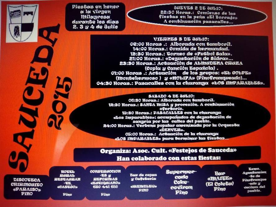 Fiestas 2015 Sauceda para pasar una noche mágica