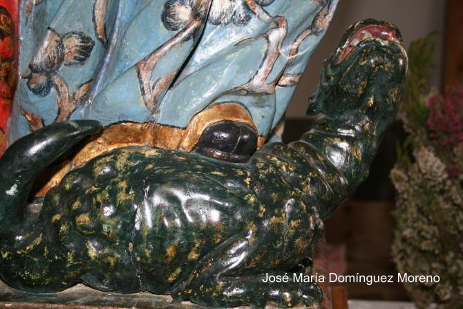 Imagen del Ehcornáu, se encuentra en la Ermita de Santa Marna