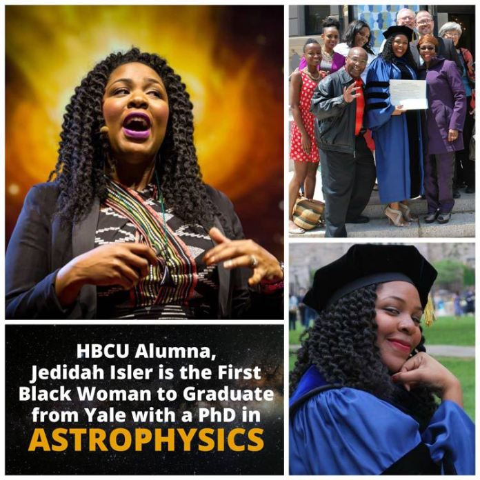 THIS HBCU ALUMNA IS THE 1ST BLACK WOMAN TO GRADUATE FROM YALE WITH A PHD IN ASTROPHYSICS