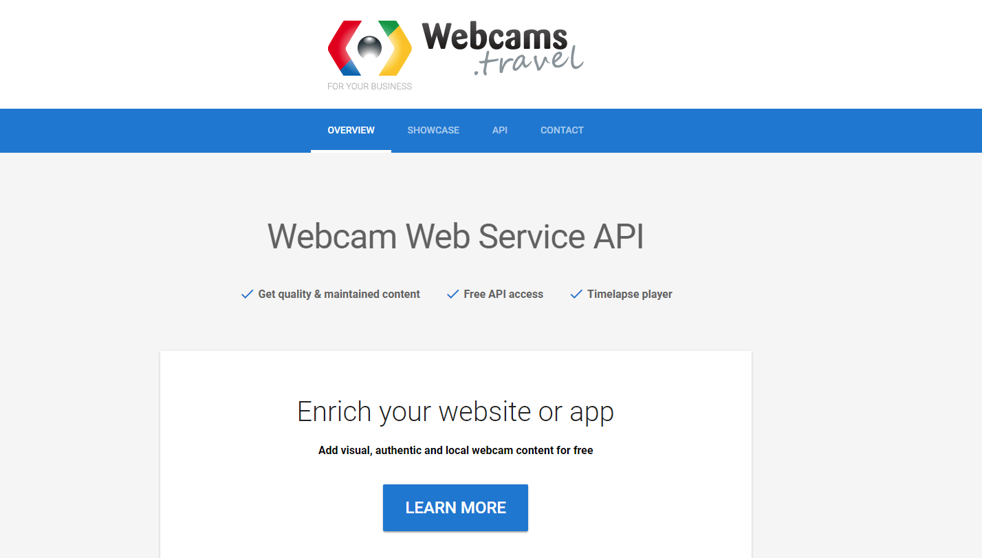 webcams.travel api