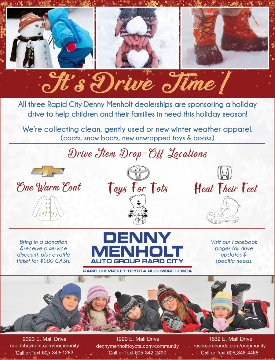 Holiday Drives Poster With Details Denny Menholt Rapid