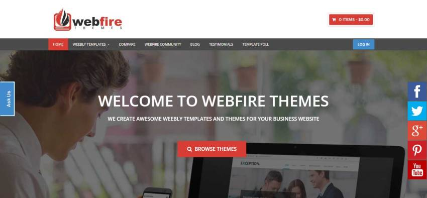 webfire premium weebly themes