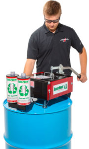 Using Aerovent to process empty aerosol cans