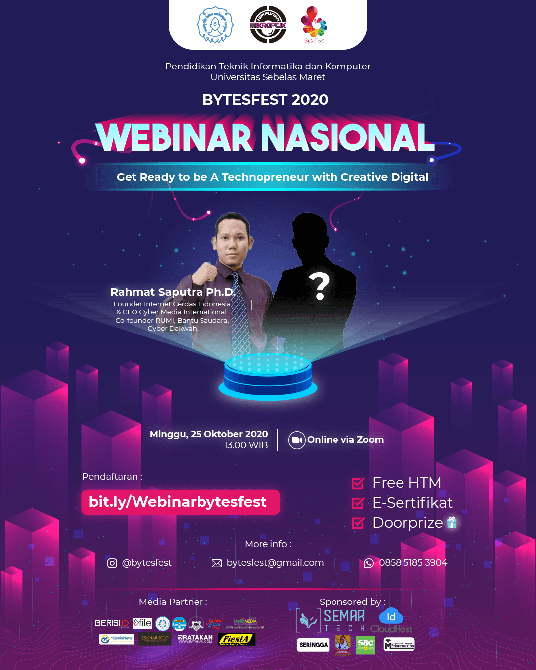 WEBINAR NASIONAL Get Ready to be A Technopreneur with Creative Digital
