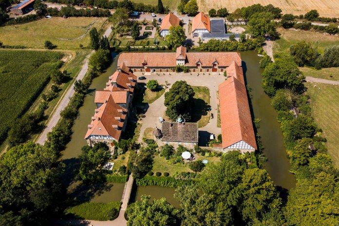 Ein Luftbild vom Rittergut