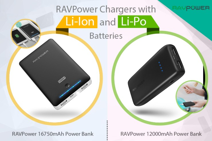 ravpower battery lithium comparison 12000mAh lithium-polymer
