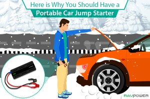 Portable Car Jump Starter RAVPower Winter Festive Holidays Christmas Vehicle Truck Power Bank