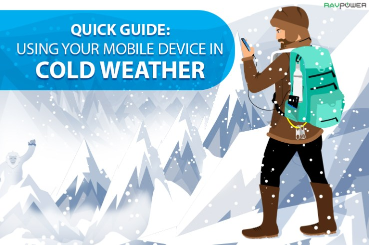 RAVPower Quick Guide Cold Weather Using Phone Blizzard Skier