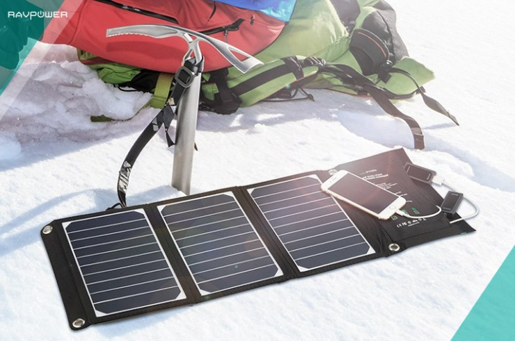 Solar Charger Snow Camping Snowboarding Mountaineering