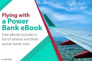 Flying with a Power Bank eBook Portable Charger Plane United Airlines TSA