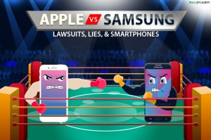 Apple vs. Samsung Galaxy iPhone 8S Note 9 iPhone X Galaxy S9 Boxing Match Rivalry