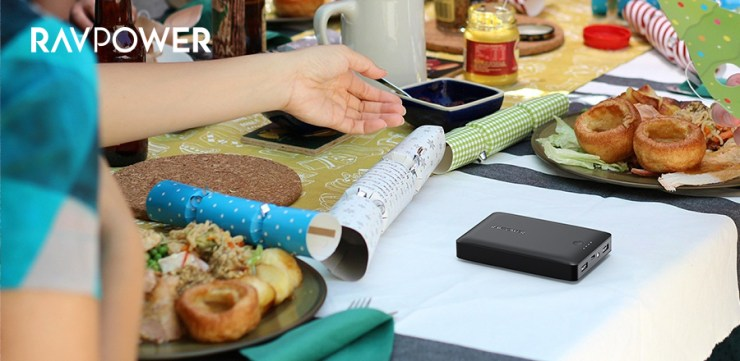 Party Dinner Table RAVPower Power Bank