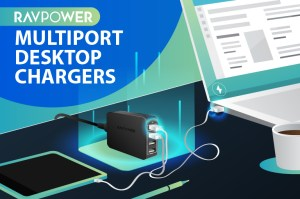 RAVPower Multiport Desktop Chargers – One for All on Your Desk