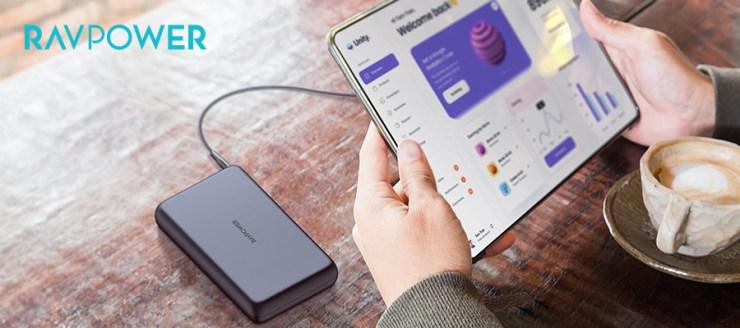 RAVPower 90W power bank RP-PB232, iPad, tablet