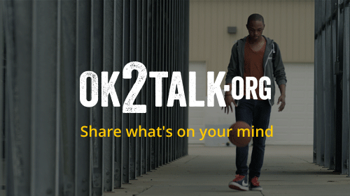 Access mental health resources for youth at OK2Talk.org