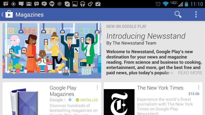 google newsstand
