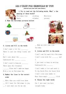 christmas學習單