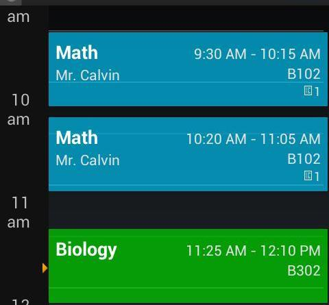 My Class Schedule: Timetable - Android Apps