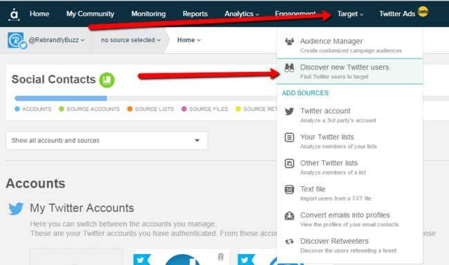 Discover New Twitter Users in Audiense