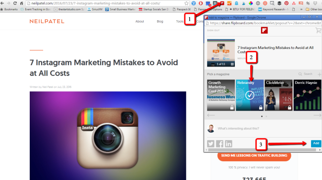 Flip your content into Flipboard for content curation