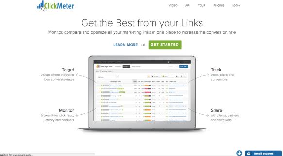 ClickMeter Homepage