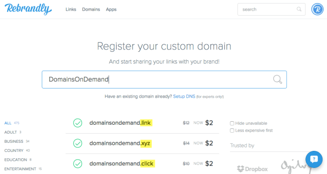 rebrandly-domains-search