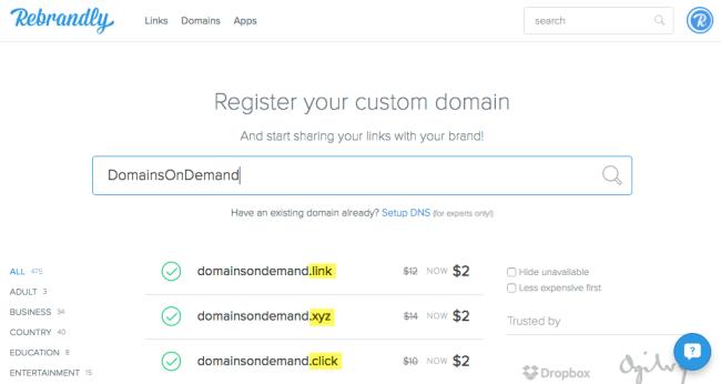 rebrandly-domains-search