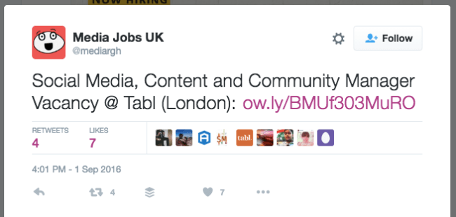 Tracking Job Posting