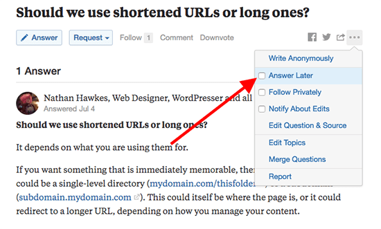 how to get traffic from Quora