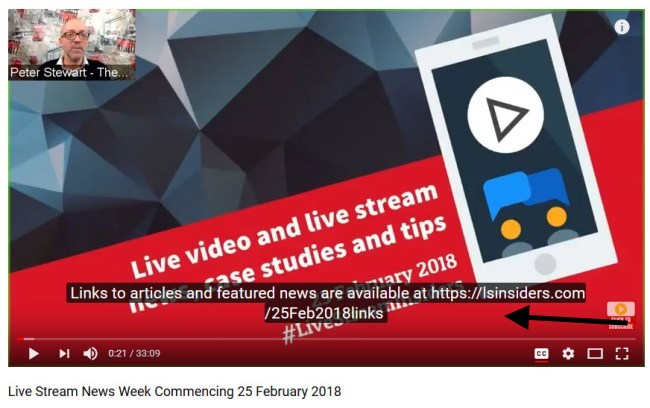 facebook live tips add curated content link to youtube