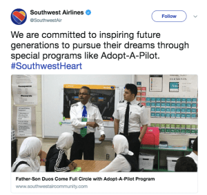 brand experience example southwest airlines