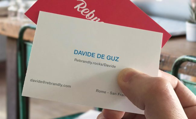 custom url business card example