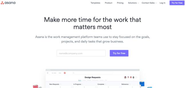 asana - Productivity App 2019