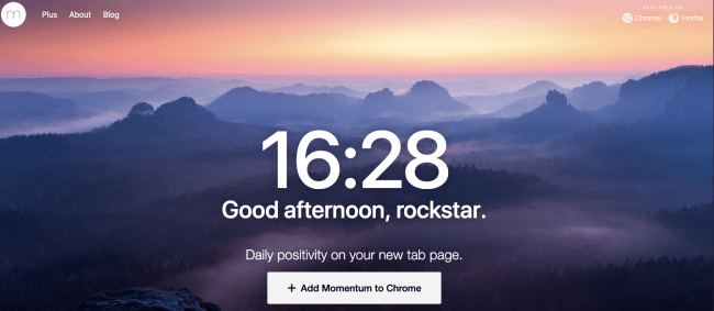 momentum - Productivity App 2019