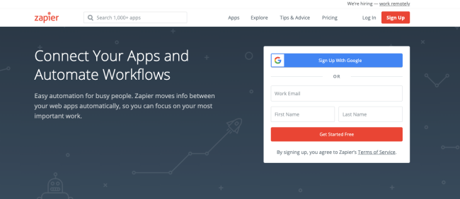 zapier - Productivity App 2019