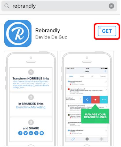 rebrandly app