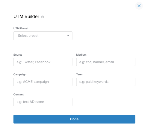 Rebrandly UTM Builder