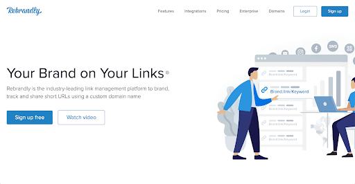 rebrandly homepage
