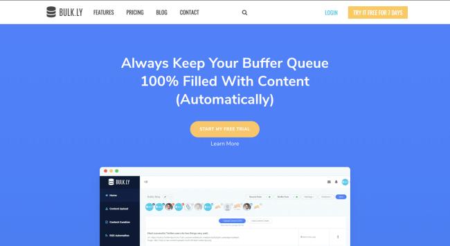Bulkly homepage