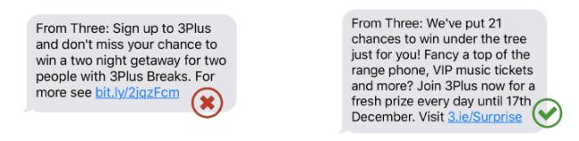 Branded vs generic SMS link - SMS marketing