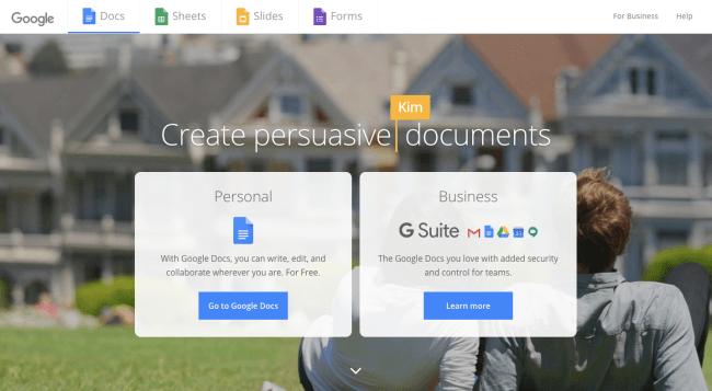 Google Docs - best content marketing tools