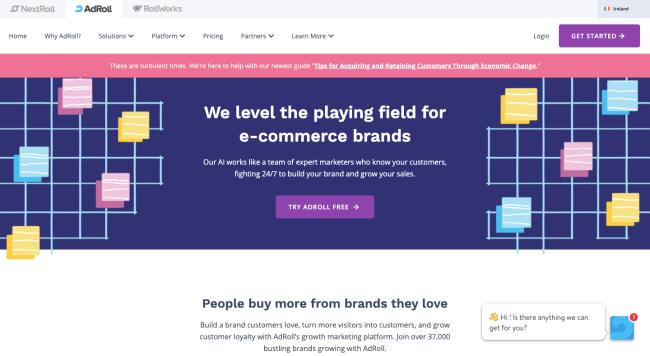 Adroll - best retargeting platforms