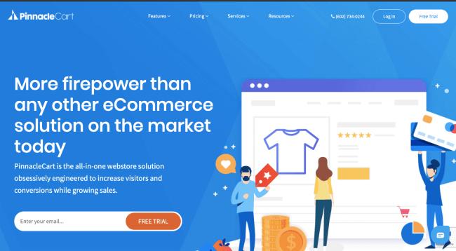 Pinnaclecart - best e-commerce platforms