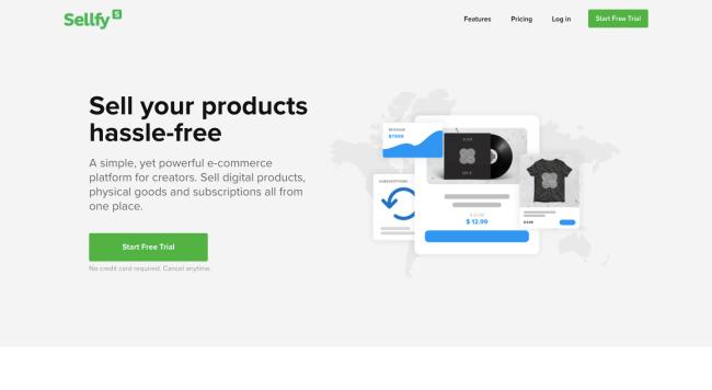 Sellfy - best e-commerce platforms