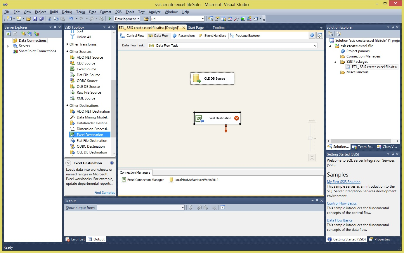 Ssis Create Excel File