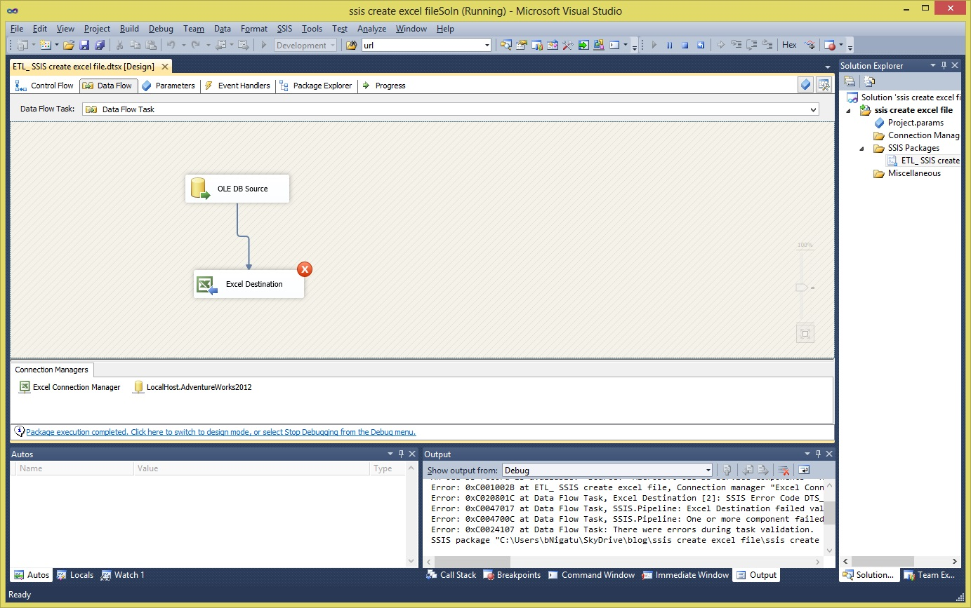 Ssis Create New Excel File Destination Archives
