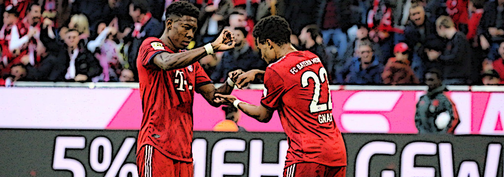 Gnabry and Alaba cooking v BVB